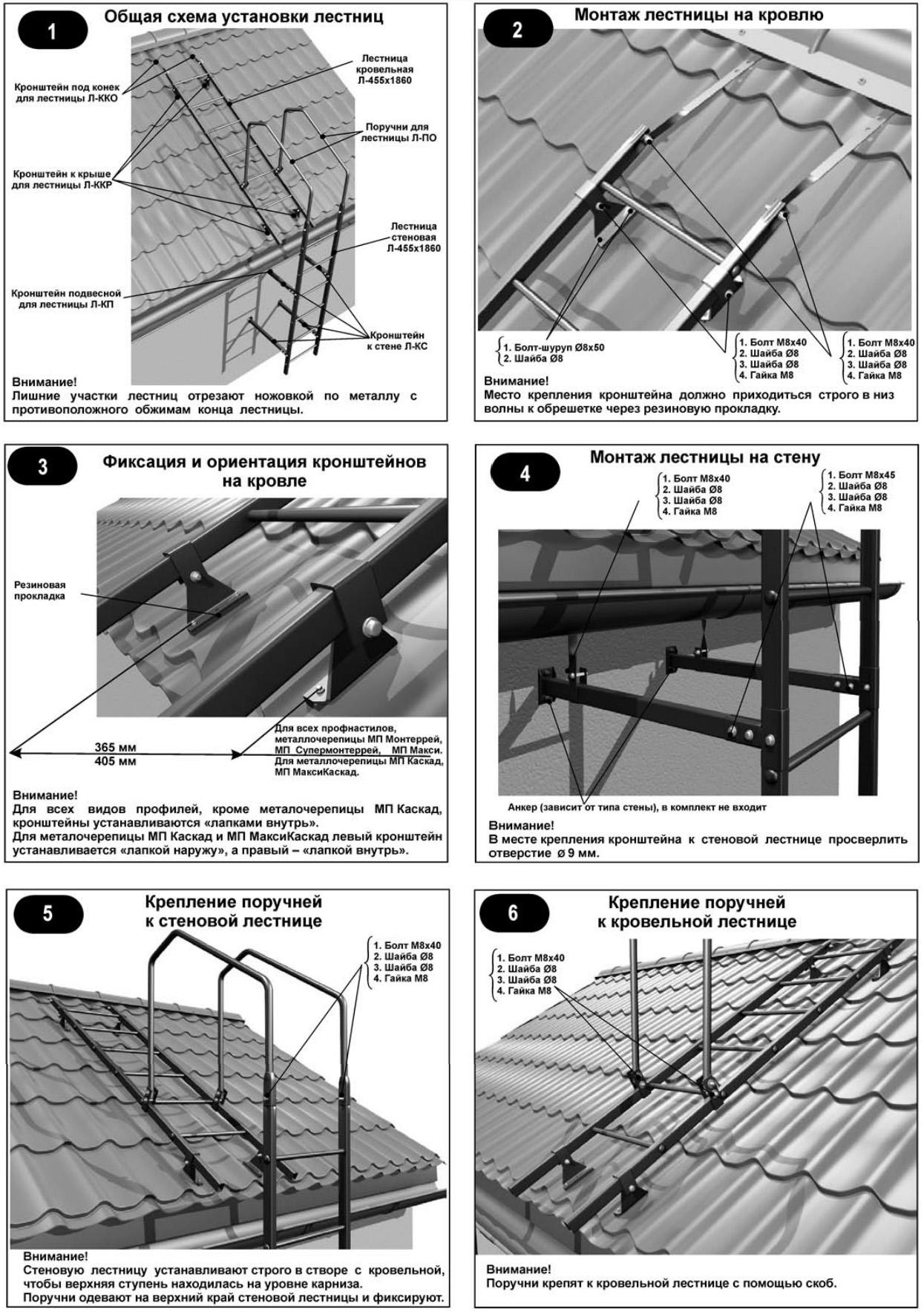 Лестница для крыши своими руками чертежи 515